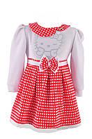 """!Платье на девочку красное """"Кошечка"""""""