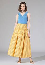 Faberlic Длинная юбка в полоску Vertical