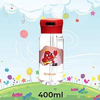 Пляшка для води CASNO 400 мл KXN-1195 Червона (краб) з соломинкою