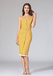 Faberlic женское Платье с поясом в полоску Vertical