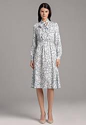 Faberlic женское Платье из вискозы с морским орнаментом цвет белый AmoreMore