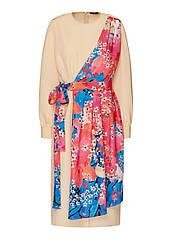 Faberlic женское Платье с авторским принтом цвет персиковый Подиум