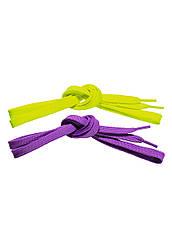 Faberlic Шнурки цвет салатовый/фиолетовый NEON арт 780555