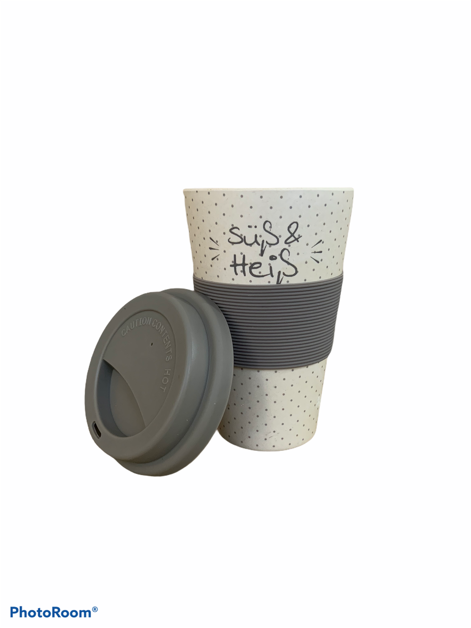 Бамбукова кавова еко To Go Becher гуртка сіра