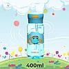 Пляшка для води CASNO 400 мл KXN-1195 Сіня (восьминіг) з соломинкою