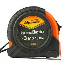 Рулетка Sparta Elastica 3м 16мм прогумований корпус