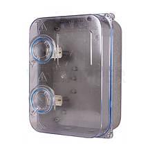 Ящик під 3ф лічильник прозорий (Дніпро) герметичний