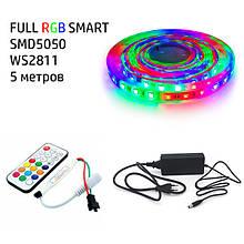Набір 3в1 BIOM SMART FULL RGB LED 5 метрів SMD5050-60 IP20 IR