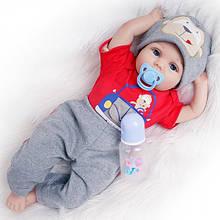 Силиконовая коллекционная кукла Reborn Doll Мальчик Даня 55 см 202, КОД: 2315681