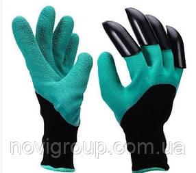 Гумові рукавички з кігтями для саду та городу Garden Genie Gloves
