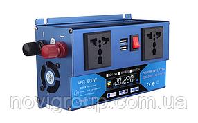 Инвертор напряжения универсальный  Voltronic, AER-600W, 48-60/220V, approximated, 2 универсальные  розетки