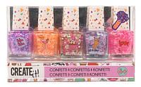 Набір дитячих лаків для нігтів CREATE IT! Конфетті - 5 шт.