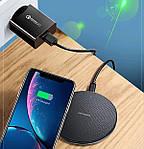 Беспроводная зарядка для телефона Wi-smart Fast 2 Qi для наушников для Iphone для Android с подсветкой быстрая, фото 5