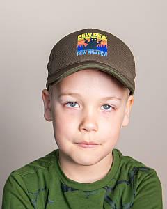 Кепка на весну-літо для хлопчика хакі оптом - PEW PEW