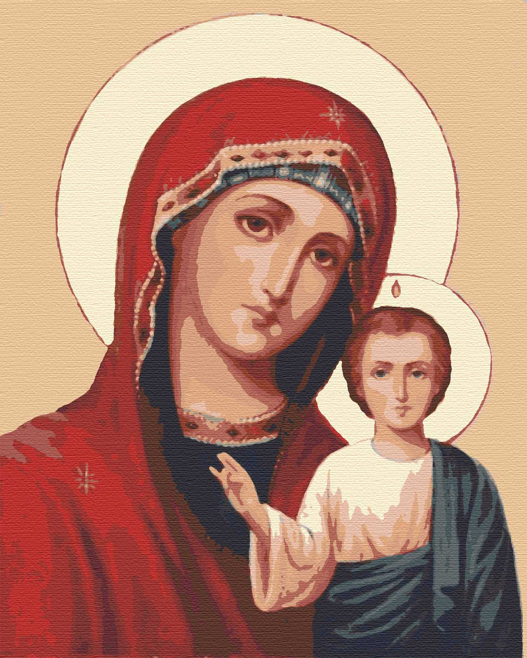 Картини за номерами ікони 40х50 Матір Божа