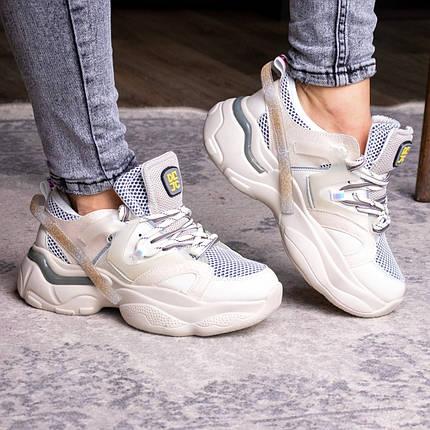 Жіночі кросівки Fashion Agatha 2048 36 розмір 23 см Бежевий, фото 2