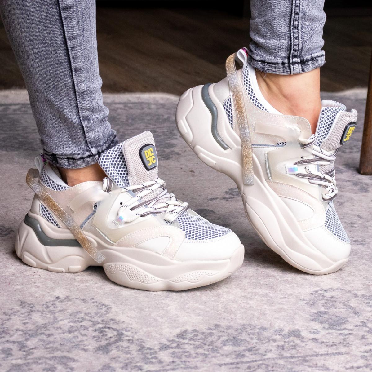 Жіночі кросівки Fashion Agatha 2048 36 розмір 23 см Бежевий