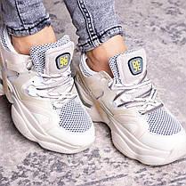 Женские кроссовки Fashion Agatha 2048 36 размер 23 см Бежевый, фото 2