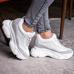 Женские стильные сникеры Fashion Pelusa 2066 36 размер 23 см Белый