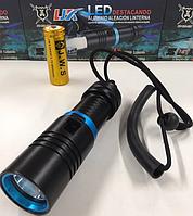 Подводный фонарь водонепроницаемый DIVING 808 T6-237 Black