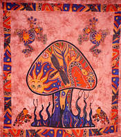 Покрывала 100% Хлопок   Mushroom Бардовое  (210х240см)