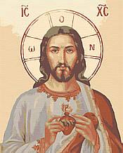 Картина по номерам иконы 40х50 Иисус в сердце