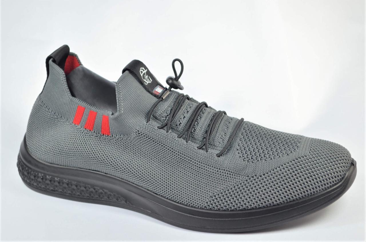 Чоловічі кросівки літні сітка сірі Fagao 990223