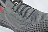 Чоловічі кросівки літні сітка сірі Fagao 990223, фото 4