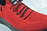 Чоловічі кросівки літні сітка червоні Fagao 99022, фото 4