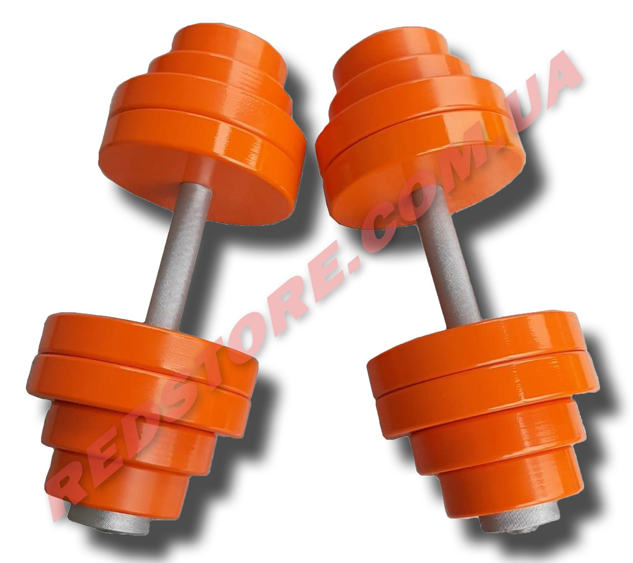 Гантели наборные 2 по 32 кг металлические с полимерным покрытием (общий вес 64 кг) разборные