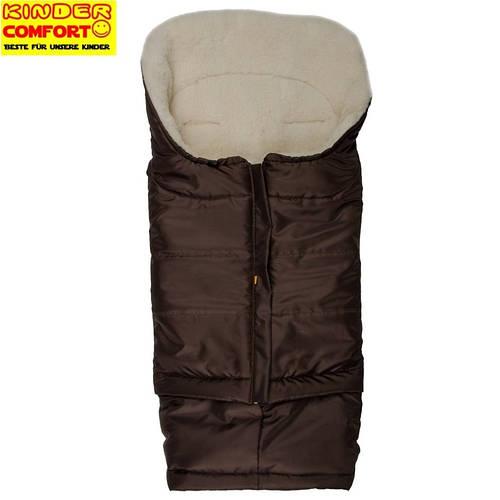 Меховой конверт в коляску и санки Polar (Шоколадный), Kinder Comfort