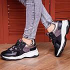 Жіночі кросівки Fashion Bruiser 1659 36 розмір 23 см Чорний, фото 6