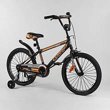 """Велосипед 2-х колёсный """"CORSO"""" стальная рама, стальные противоударные диски с усиленной спицей ST-20455"""