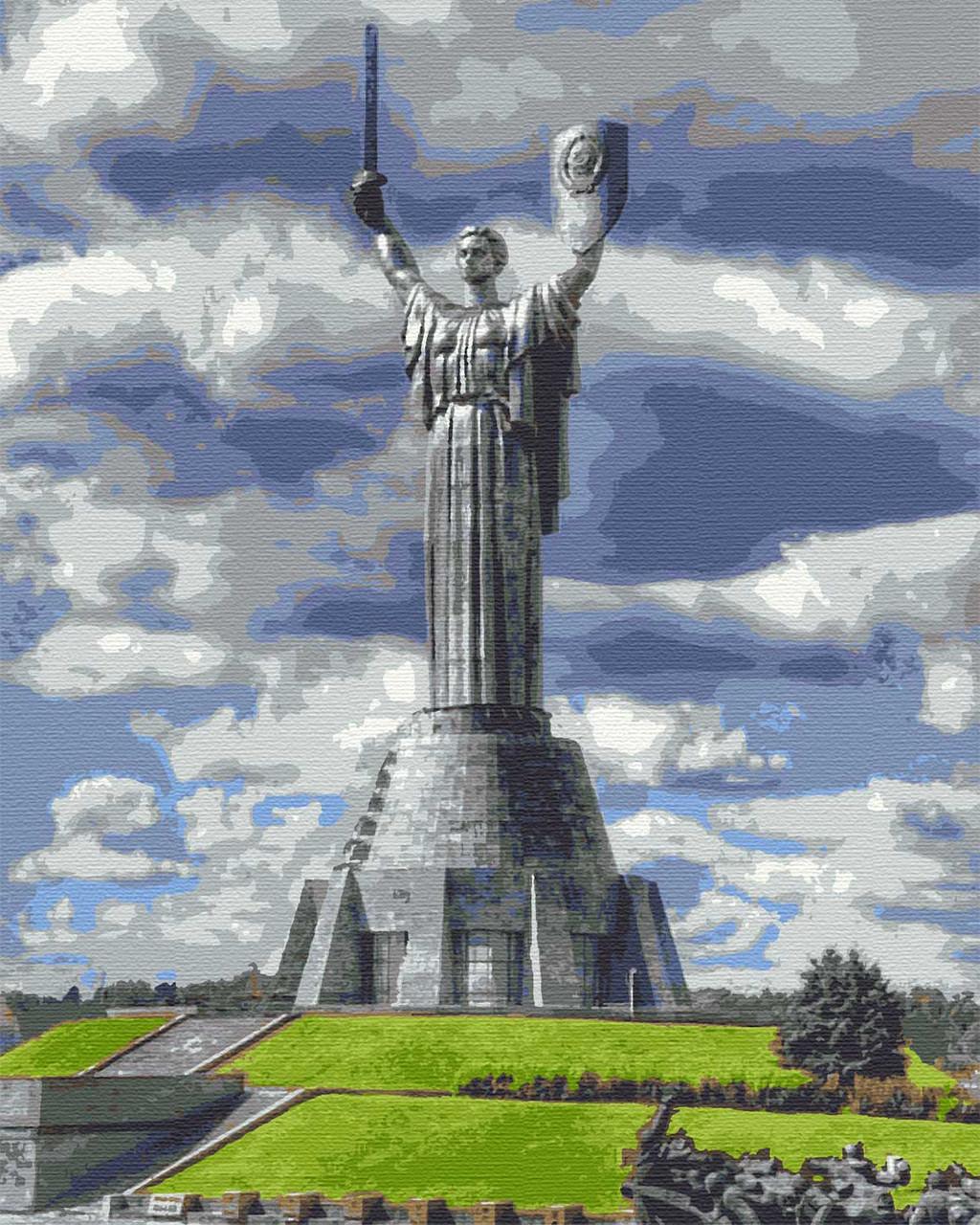 Картии за номерами міста київ пейзаж 40х50 Мати Батьківщина