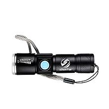 Ліхтарик Shustar S-007-USB 1xCREE XR-E Q5 800мАч IPX7 black