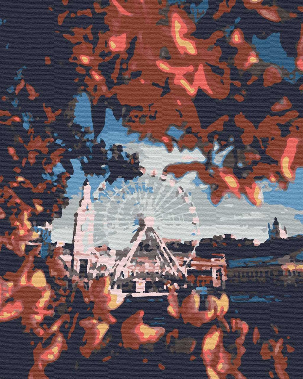 Картины по номерам города пейзаж 40х50 Контрактовая Площадь
