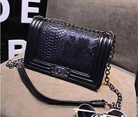Стильная женская сумка Ch@nel boy