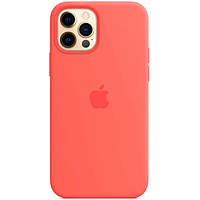 Чехол Sillicon Case для iPhone 12, iPhone 12 Pro with magsafe and splash Pink Citrus