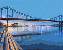 Картина за номерами міста пейзаж київ 40х50 Над Дніпром