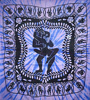 Покрывала 100% Хлопок  однотонное Кама Сутра Синее  (210х240см)
