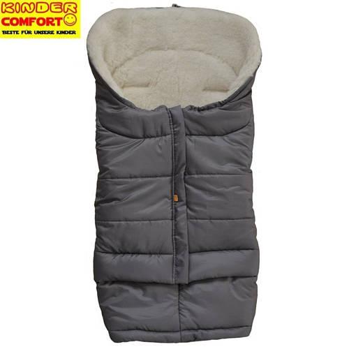 Меховой конверт в коляску и санки Polar (Серый), Kinder Comfort
