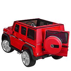 Дитячий електромобіль M 3567EBLRM-3   з колесами Eva, що відкривається дверима, шкіряними сидінням, 35W,