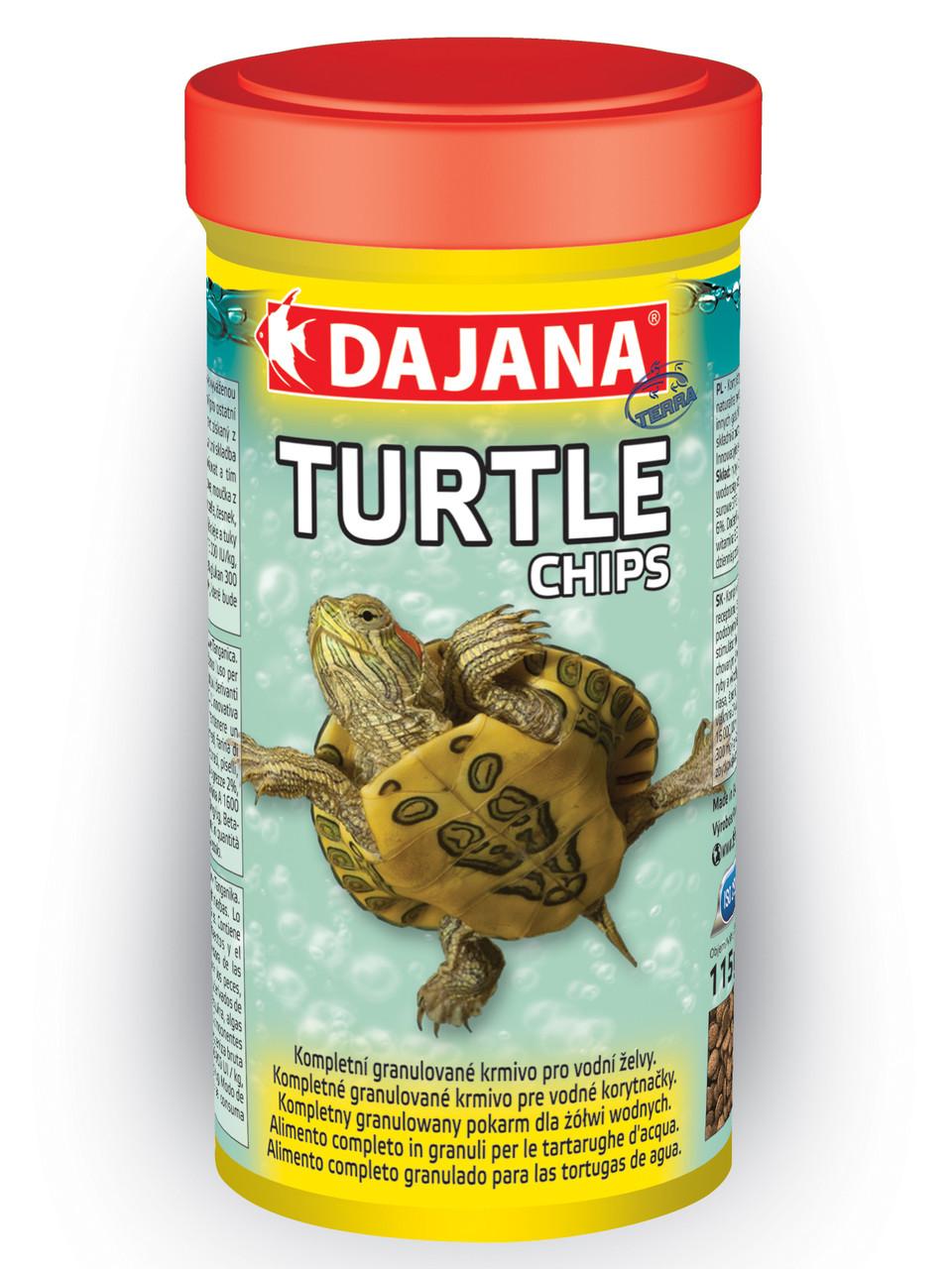 Комплексный корм в виде чипсов для всех видов водных черепах Dajana TURTLE CHIPS 400 г