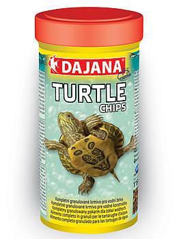 Комплексний корм у вигляді чіпсів для всіх видів водних черепах Dajana TURTLE CHIPS 400 г