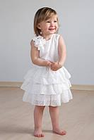 """Детское нарядное платье для девочки с оборками """"Айвори"""""""