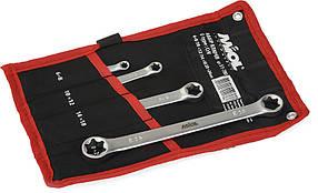 Набір ключів накидних E-type CrV 4шт Miol 51-780
