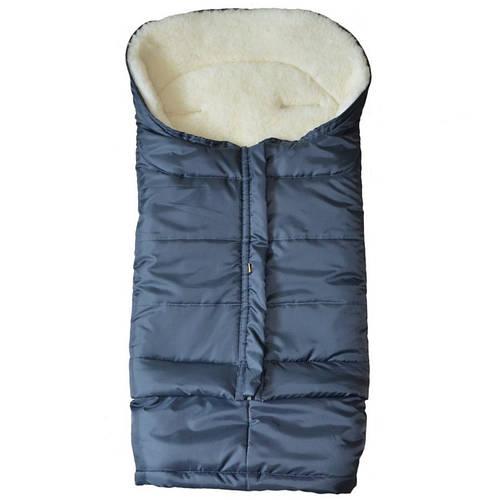 Меховой конверт в коляску и санки Polar (Графитовый), Kinder Comfort