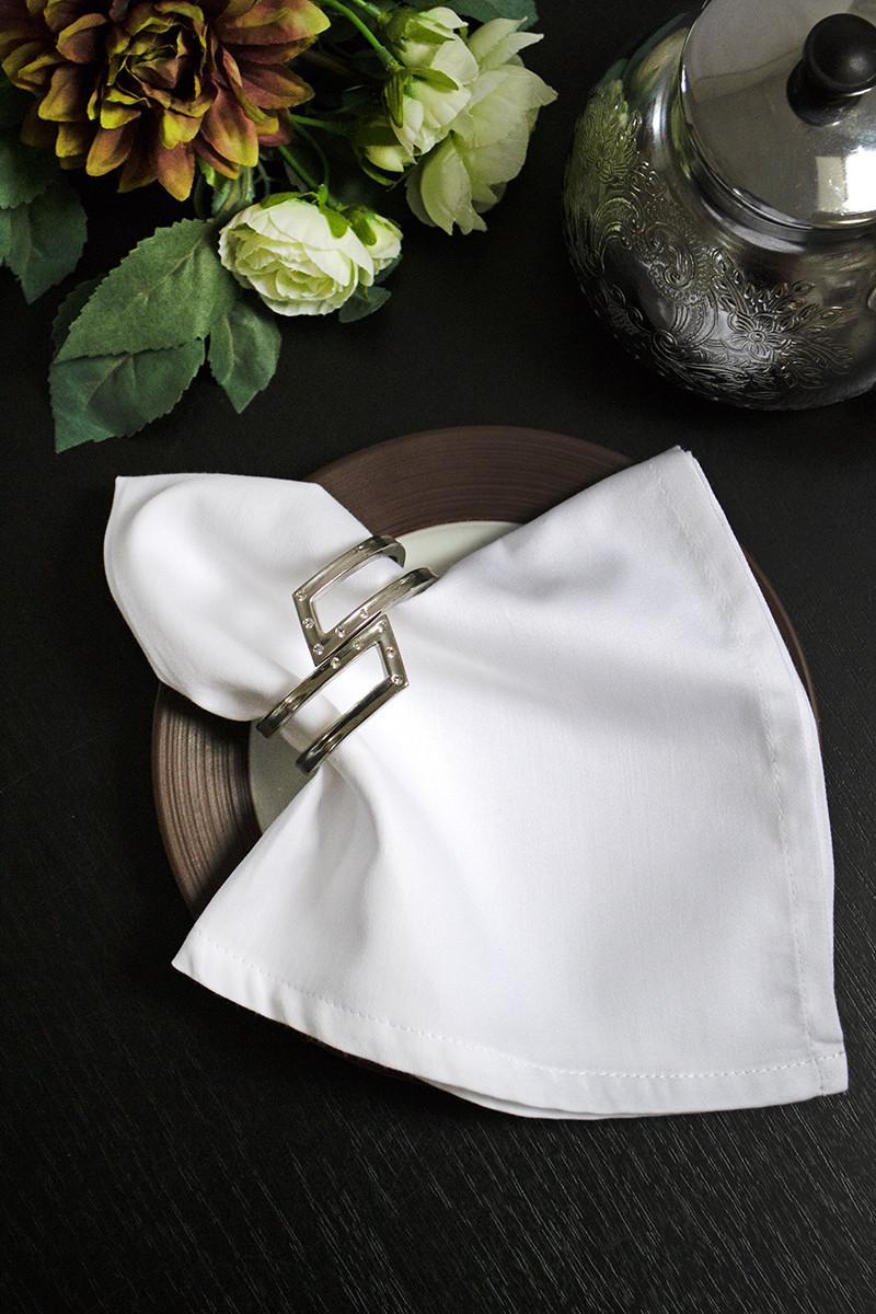Салфетка Lotus отель - Белый ранфорс Premium 40*40