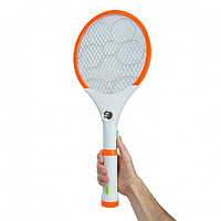 Электрическая мухобойка Ракетка аккумуляторная 2в1 с фонариком 4 + 1 LED Rechargeable Mosquito Swatter