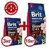 Brit Premium Adult L 15кг+3 кг корм для собак крупных пород - Фото